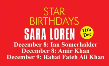 STAR BIRTHDAYS SARA LOREN