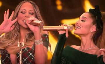 Mariah Carey, Ariana Grande and Jennifer Hudson teamed up for a holiday surprise