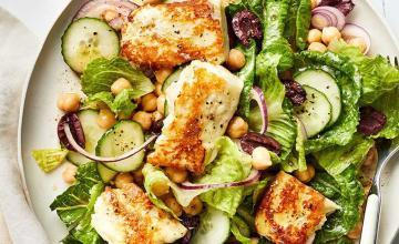 Halloumi, Chickpea & Lime Salad