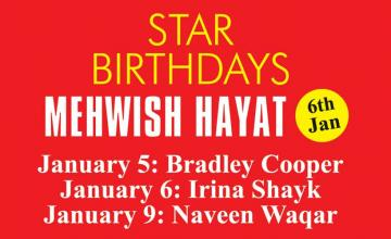 STAR BIRTHDAYS MEHWISH HAYAT