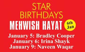 STAR BIRTHDAYS MEHWISH HAYAT