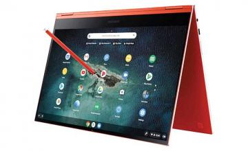 Samsung's leaked Galaxy Chromebook 2 is a sleek design with an orange hue