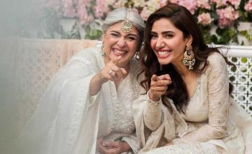 Mahira Khan collaborated with Marina Khan, giving us a message this wedding season