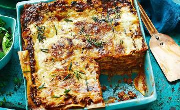 Pumpkin, Ricotta and Prosciutto Lasagna with Chilli
