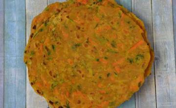 Zucchini Carrot Paratha