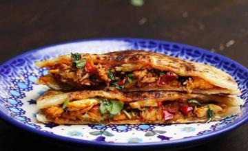 Chilli Chicken Stuffed Paratha