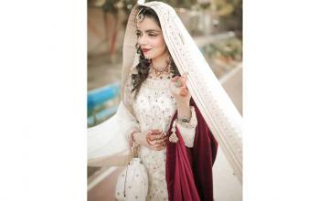 Television actor Srha Asghar got hitched in an intimate nikkah ceremony