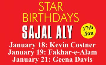 STAR BIRTHDAYS SAJAL ALY