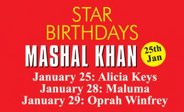 STAR BIRTHDAYS MASHAL KHAN