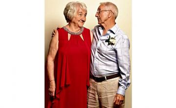 Childhood sweethearts reconnect and marry 66 years later