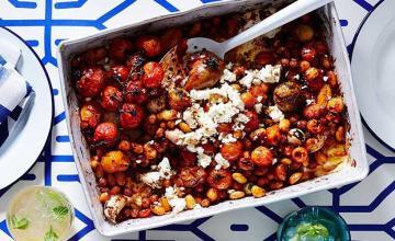 Smoky Tomato Baked Beans