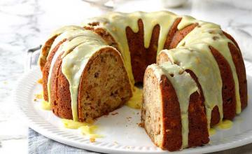 Apple & Walnut Cake with Treacle Icing