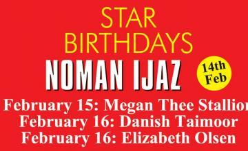 STAR BIRTHDAYS NOMAN IJAZ