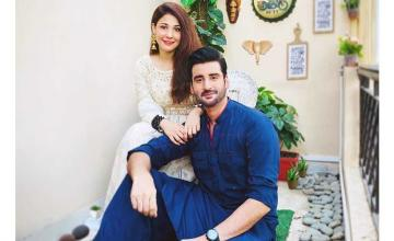 Celebrity couple Hina Altaf and Aagha Ali are all set for their upcoming talk show