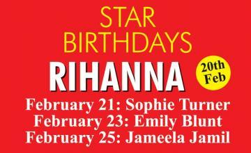 STAR BIRTHDAYS RIHANNA