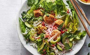 Turkey Meatball Noodle Salad