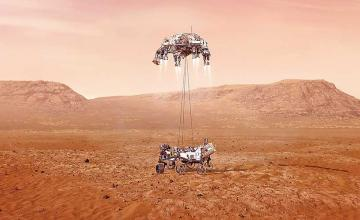 Mars rover perseverance lands for historic mission to collect signs of ancient life