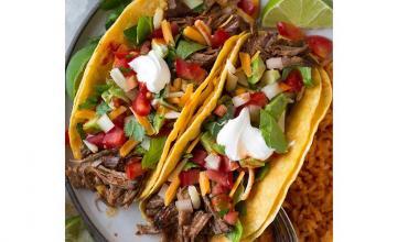 Shredded Beef Chilli Tacos