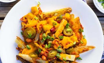 Vegan Bean Chilli Fries