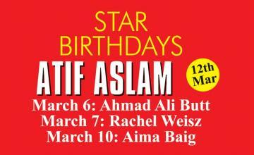 STAR BIRTHDAYS ATIF ASLAM