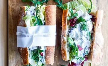 Sandwich with Chicken Salad on Greek Yoghurt