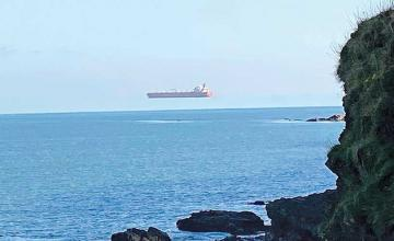'Hovering ship' photo taken in UK was result of 'optical illusion'