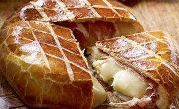 Brie wrapped in Prosciutto & Brioche