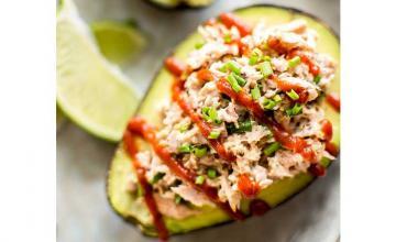 Spicy Tuna Stuffed Avocado