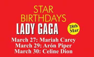 STAR BIRTHDAYS LADY GAGA