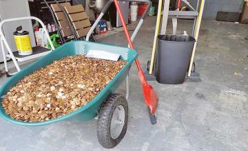 Man waiting for last paycheck from old job gets $915 in oiled pennies instead