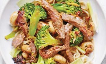 Stir-Fried Ginger Miso Steak with Broccoli