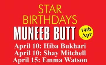 STAR BIRTHDAYS MUNEEB BUTT