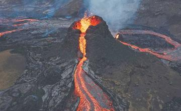 Breathtaking photos of Iceland volcano that's erupting for first time in 6,000 years are doing rounds on the internet