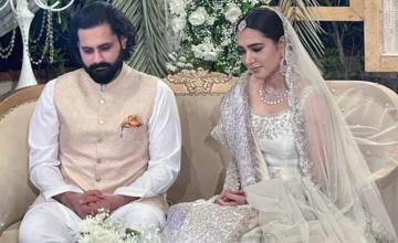 Mansha Pasha and Jibran Nasir tied the knot