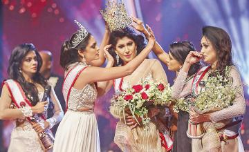 Mrs World arrested after grabbing newly crowned Mrs Sri Lanka's tiara off head, allegedly injuring her