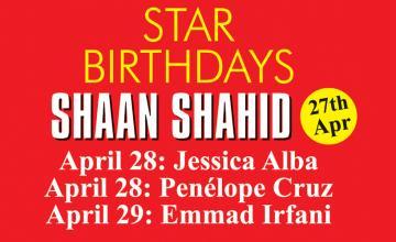 STAR BIRTHDAYS SHAAN SHAHID