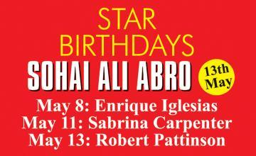 STAR BIRTHDAYS SOHAI ALI ABRO