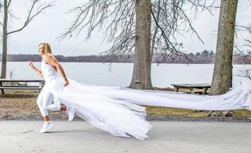 Woman to run 285 miles in a wedding dress to raise awareness for narcissistic domestic abuse