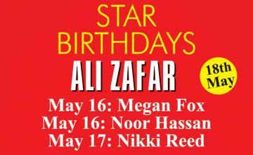 STAR BIRTHDAYS ALI ZAFAR