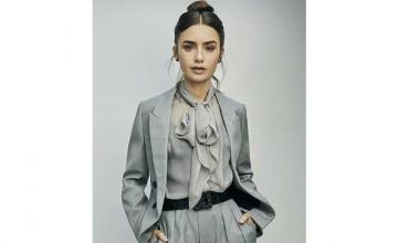 Lily Collins with all her 'Emily in Paris' co-stars kicks off Season 2