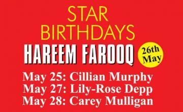 STAR BIRTHDAYS HAREEM FAROOQ