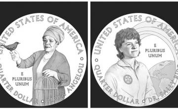 Poet Maya Angelou and Astronaut Sally Ride will be the first women honoured on series of quarters