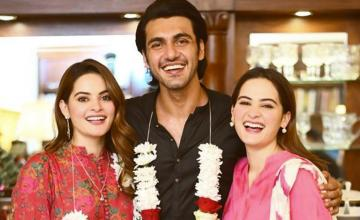 Minal Khan and Ahsan Mohsin Ikram are now officially engaged