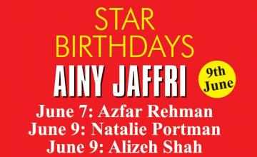 STAR BIRTHDAYS AINY JAFFRI