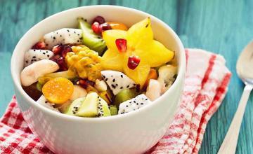 Fruit Salad with Honey Yogurt Sauce
