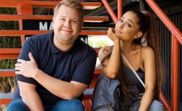 Ariana Grande and James Corden celebrate No Lockdowns Anymore mini musical