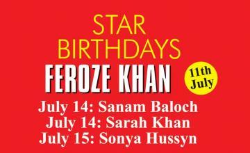 STAR BIRTHDAYS FEROZE KHAN