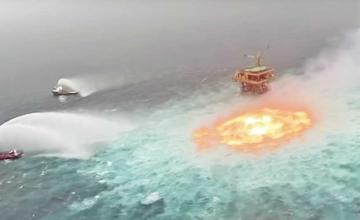 Flames put out in the Gulf of Mexico after underwater pipeline ruptures