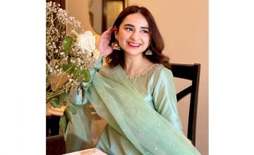 Yumna Zaidi reveals her first look from the awaited drama 'Ishq e Laa'