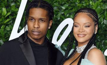 Rihanna and A$AP Rocky show PDA on the sets of their new project